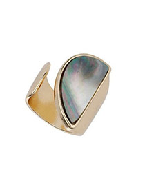 Fashion Multi-colour Semicircle Shape Decorated Simple Design Alloy Korean Rings