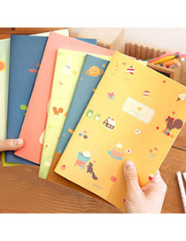 Lovely Random Color Cartoon Girl&cat Pattern Simple Design Paper Stickers Tape