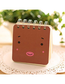 Lovely Brown Expression Pattern Simple Design Paper Stickers Tape Paper Notebook Agenda