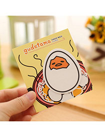 Lovely Yellow Cartoon Egg Pattern Simple Design Paper Stickers Notebook