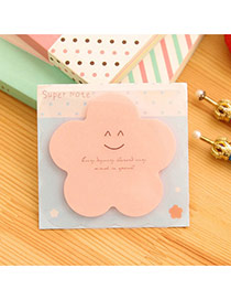 Lovely Pink Smile Pattern Flower Shape Design Paper Stickers Tape