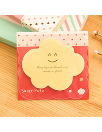 Lovely Yellow Smile Pattern Cloud Shape Design Paper Stickers Tape Paper Scratch Pad Sticky