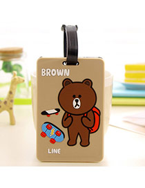 Fashion Brown Cartoon Bear Pattern Decorated Simple Design Silicone Household goods