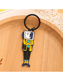 Lovely Multi-color Cartoon Man Pattern Decorated Simple Design Alloy Fashion Keychain