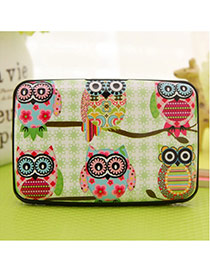 Lovely Multi-color Owl Pattern Decorated Square Shape Design Plastic Household goods
