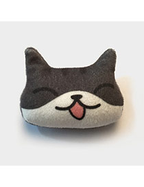 Lovely Gray Cat Pattern Decorated Simple Design Plush Wallet