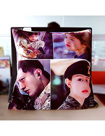 Fashion Multi-color Soldier Pattern Pillow Cases Dots Descendants Of The Sun Fabric Household goods