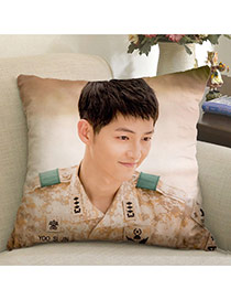 Fashion Pink Soldier PatternPillow Cases Dots Descendants Of The Sun Fabric Household goods