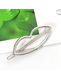 Elegant Silver Color Lip Shape Decorated Hollow Out Design Alloy Hair clip hair claw