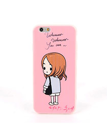 Fashion Pink Girl Pattern Decorated Dots Descendants Of The Sun Silicone Iphone 6