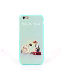 Fashion Green Soilder&girl Pattern Decorated Dots Descendants Of The Sun Silicone Iphone 6