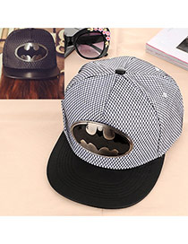 Fashion White Metal Pattern Decorated Simple Design Canvas Baseball Caps