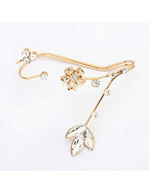 Sweet Gold Color Flower Shape Decorated Double Layer Design  Alloy Fashion Bangles