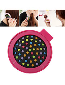 Fashion Plum Red Color Matching Decorated Round Shape Folding Comb Reviews