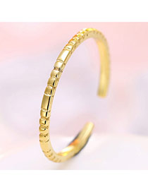 Personalized Gold Color Pure Color Decorated Simple Opening Ring