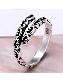 Personality Silver Color Cloud Decorated Simple Opening Ring