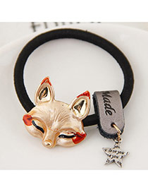 Fashion Gold Color Metal Fox&star Pendant Decorated Simple Hair Band