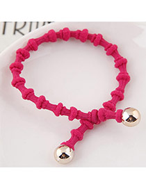 Elegant Plum Red Pure Color Design Bamboo Joint Shape Simple Hair Band