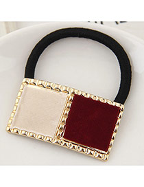 Temperament Brown Square Shape Decorated Hair Hoop &hair Band