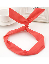 Sweet Red Pure Color Decorated Bunny Ears Simple Hair Hoop&hair Band