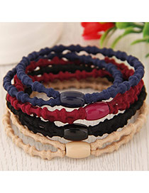 Elegant Random Pure Color Decorated Double Layer Simple Hair Hoop&hair Band(1pcs)
