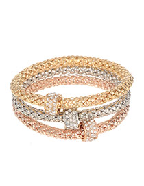 Elagant Multi-color Czdiamond Decorted Bracelet Set