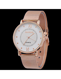 Personality Gold Color Roman Dial&letter Pattern Decorated Metal Stap Design Man Watch Alloy Men's Watches