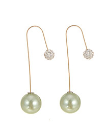 Elegant Champagne? Diamond Decorated Pearl Pendant Earring