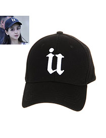 Fashion Black Letter Embroidery Decorated Simple Baseball Cap