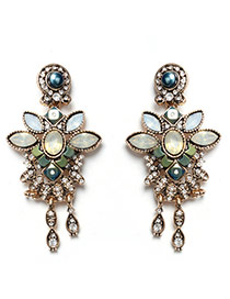 Sweet Green Tassel Pendant Decorated Butterfly Shape Earring