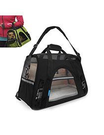 Fashion Black Pure Color Decorated Simple Pet Carrier