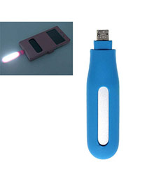 Trendy Blue Pure Color Design Hollow Out Led Fill Light Artifact (android)