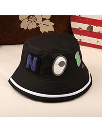 Fashion Balck Eyes&letter Pattern Decorated Bucket Hat