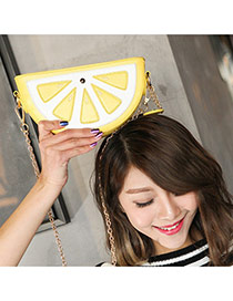 Cute Yellow Orange Shape Decorated Simple Shoulder Bag