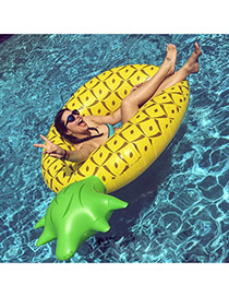 Lovely Yellow Color Matching Design Pineapple Shape Swim Ring