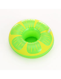 Sweet Green Flower Pattern Decorated Round Shape Cup Holder Household Goods