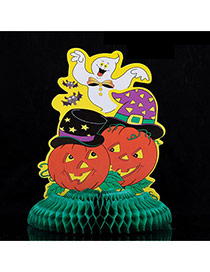 Exaggerated Multi-color Hollow Out Cartoon Shape Decorated Simple Halloween Props