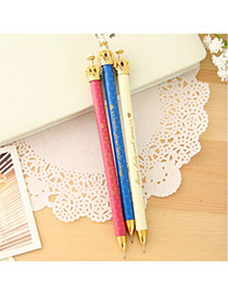 Lovely Random Color Metal Crown Decorated Simple Mechanical Pencil