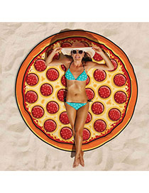 Fashion Red Pizza Shape Pattern Decorated Cartton Yoga Mat&shawl
