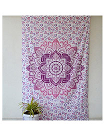 Fashion Purple Regular Geometric Pattern Decorated Square Yoga Mat&shawl