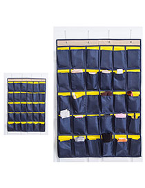 Fashion Dark Blue Color Matching Decorated Simple Multilayer Storage Bag