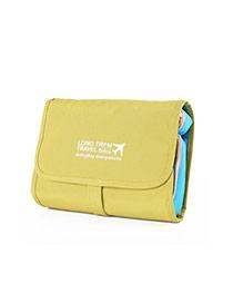 Fashion Yellow+green Letter&airplan Pattern Decorated Wash Gargle Bag Sets