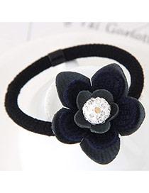 Sweet Dark Blue Flower Shape Decorated Simple Hair Band