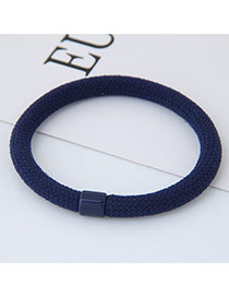 Fashion Navy Round Shape Decorated Pure Color Simple Hair Band