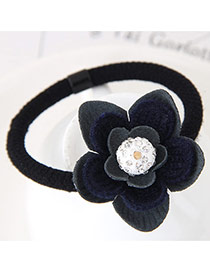 Fashion Gray Diamond Decorated Flower Design Simple Hair Band