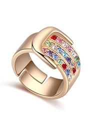 Anillo De Moda En Forma De Geométrico Decorado Con Diamante Replicas