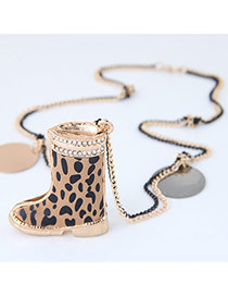 Personality Multi-color Boot Shape Pendant Decorated Simple Necklace