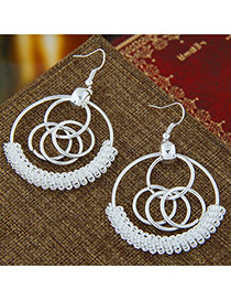Trendy Circles Decorated Multi-layer Pure Color Earrings Circles Decorated Multi-layer Pure Color Earrings