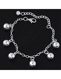 Fashion Silvercolor Round Balls Pendant Pure Color Simple Bracelet