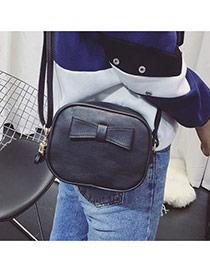 Fashion Black Bowknot Shape Decorated Pure Color Simple Bag Reviews